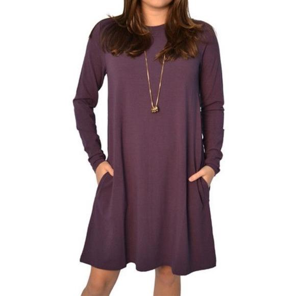 Lilla P Dresses & Skirts - Lilla P maroon swing dress